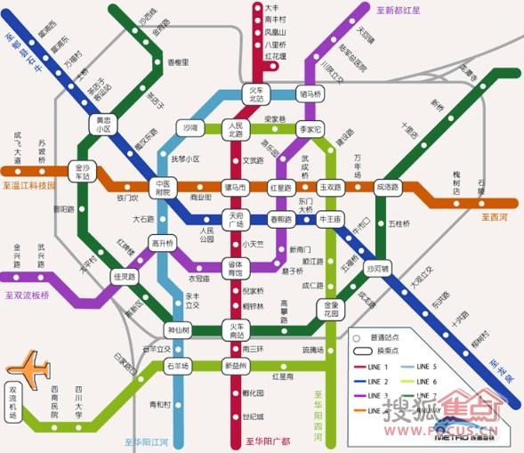 成都地铁规划图