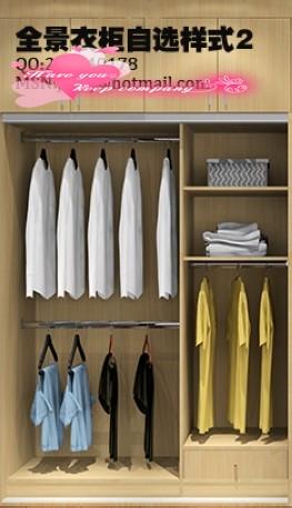 实用收纳大衣柜内部结构设计样式参考 附图21张