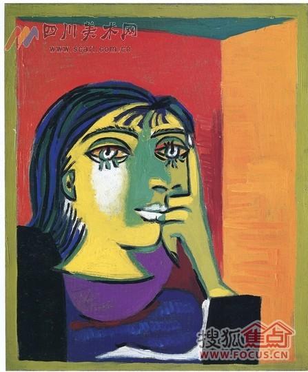!   展出   毕加索大规模的油画真迹展,在成都还是第一次   高清图片