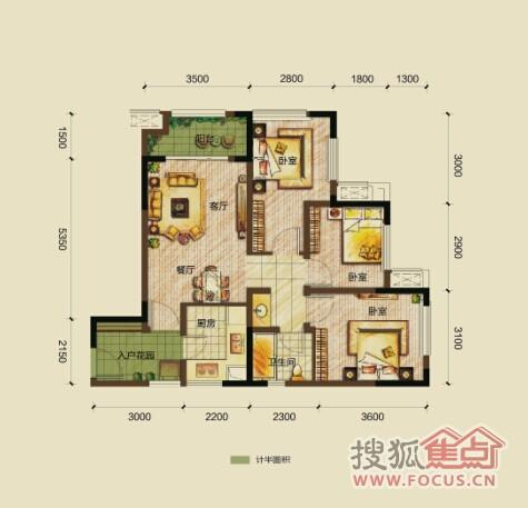 紧凑设计,六七十平米的三房,就是给我们这种年轻人设计的,免得以后