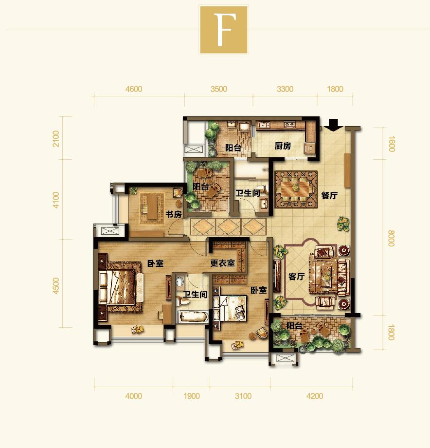 四室两厅户型图--重庆搜狐焦点网图片