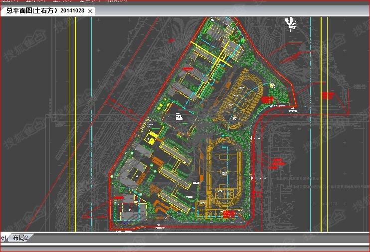 石子山中小学平面图