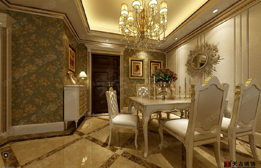洋房装修设计 天古装饰洋房装修设计 欧式装修风格效果欣赏 高清图片