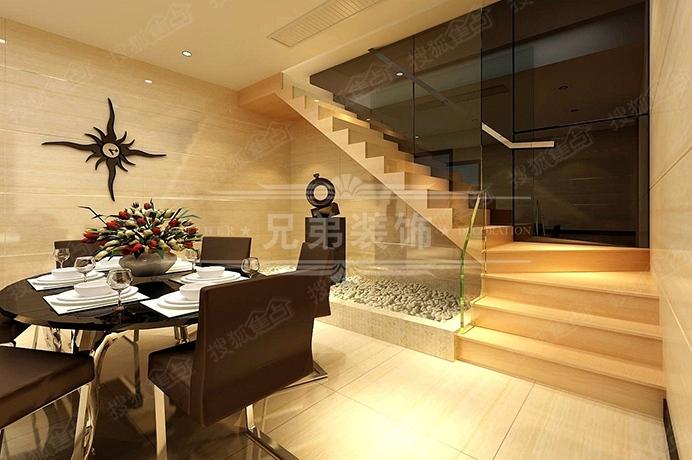 木地板上墙上顶处理体现港式风格设计简洁自然