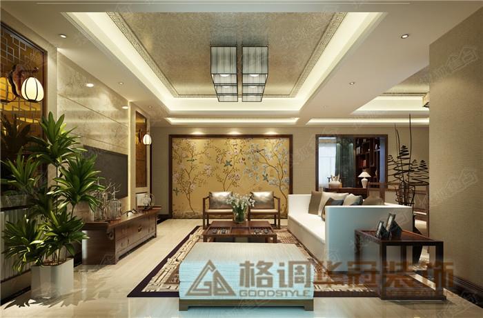 江上明珠新中式风格设计装修效果图 重庆格调装饰