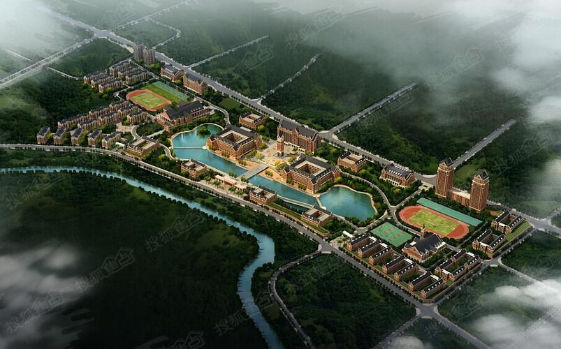 重庆高职城鸟瞰图