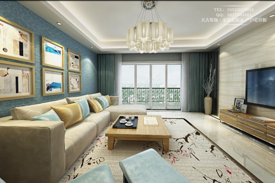 泉150平四室两厅户型装修设计方案高清图片