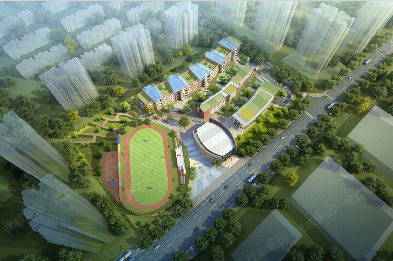 万州江南新区领导到草街街道考察合川区巴蜀小学建设高清图片