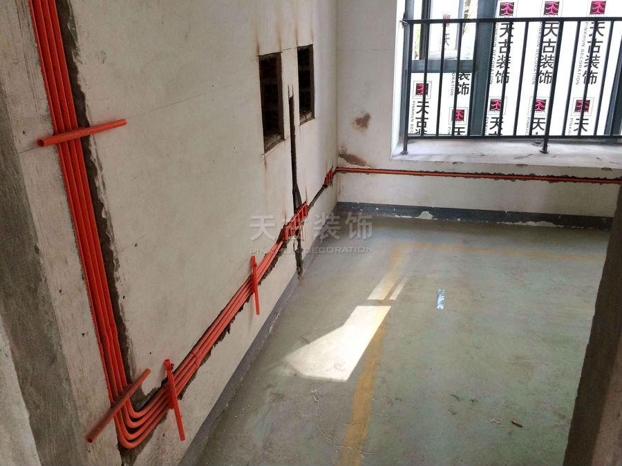 御龙天峰小高层装修案例 水电施工图 天古装饰高清图片