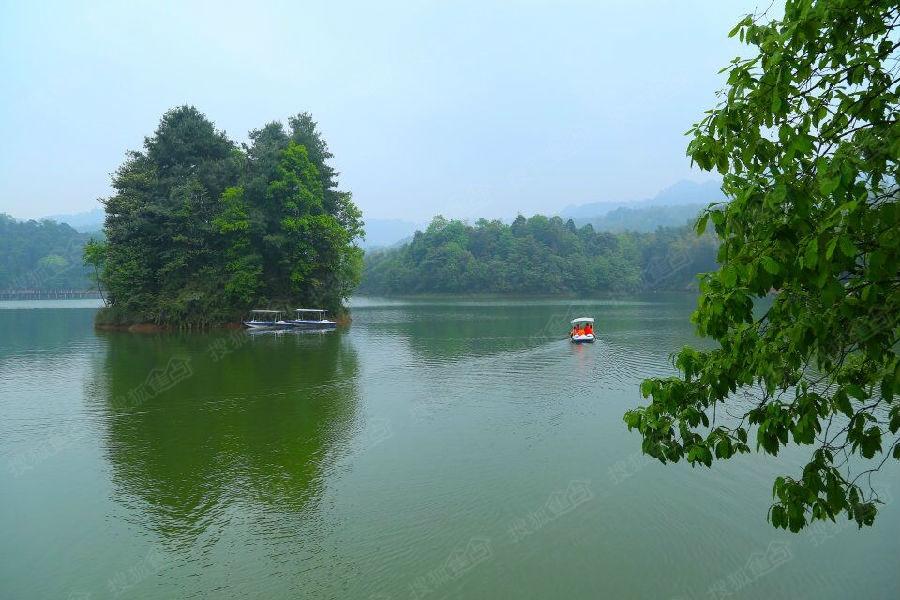 贵州赤水天岛湖,天鹅堡前行10分钟,600亩天然高山双子湖泊!