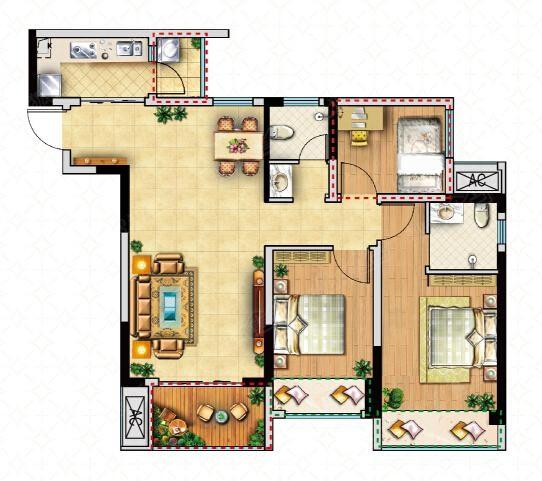 92平方米房子设计图