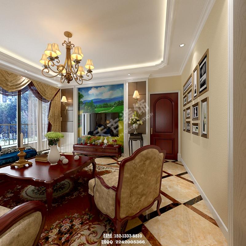融侨半岛 洋房装修设计 美式风格效果图 南岸天古装饰图片