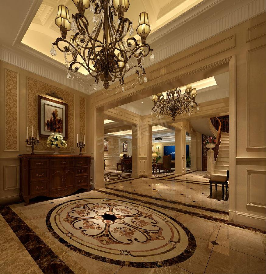 > 听蓝湾洋房底跃户型设计方案 欧式装修效果图   负一楼考虑为类会所图片