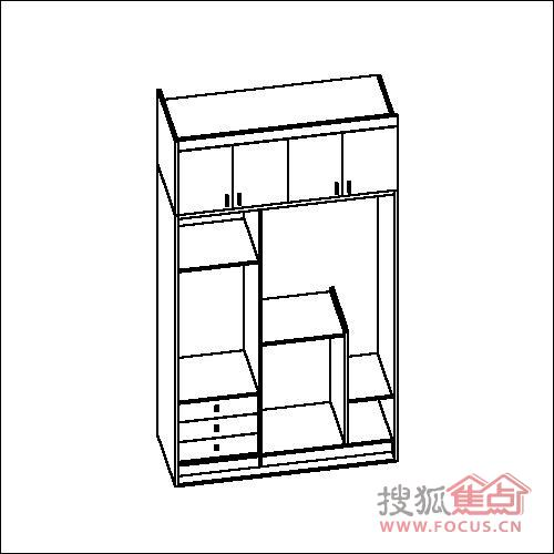 衣柜线条图