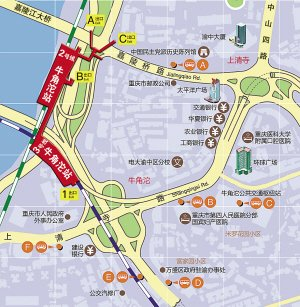重庆动物园里面的地图