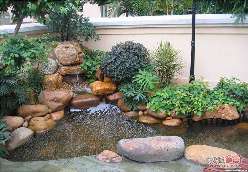 别墅庭院,洋房花园景观设计,入户花园,花草苗木种植,修建假山鱼池