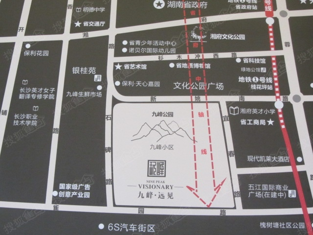 九峰远见区位交通图高清图片