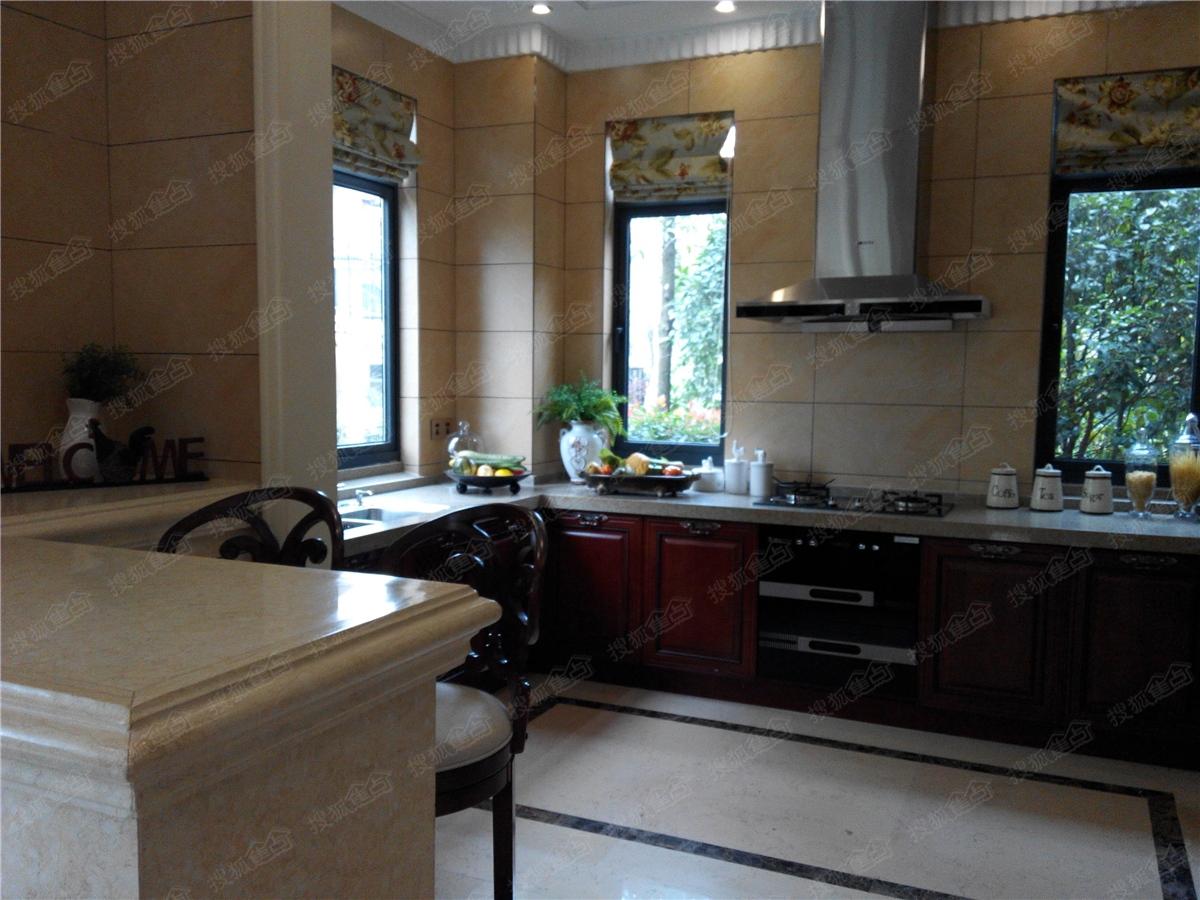 天麓428㎡独栋别墅户型样板间-厨房图片