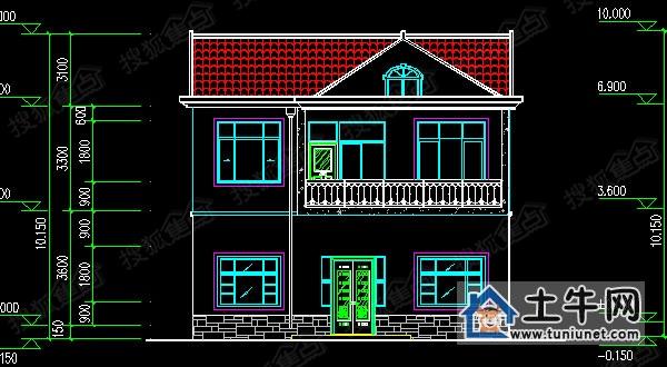 二层带阁楼农村自建房设计图