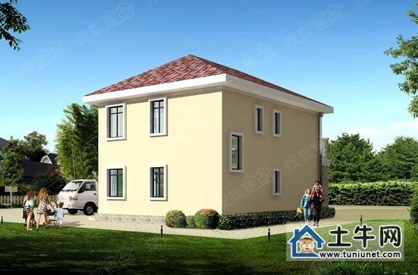 二层经济型小别墅全套图纸-二层农村别墅图纸