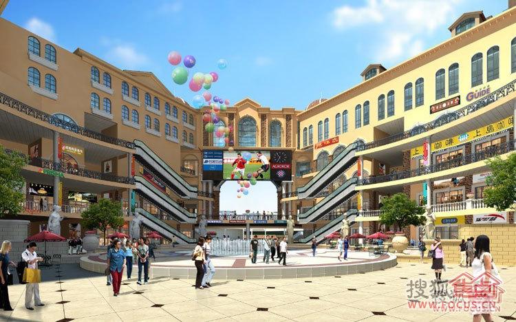 涉外国际公馆-罗马商业广场透视图3