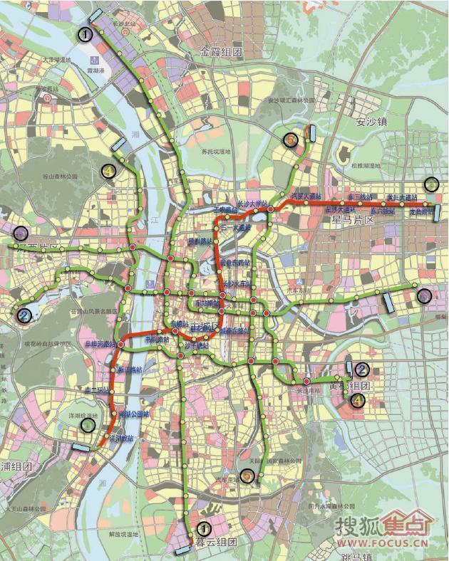 围观长沙地铁1 6号线规划,瞧瞧在北辰三角洲出去玩,该怎么搭乘地