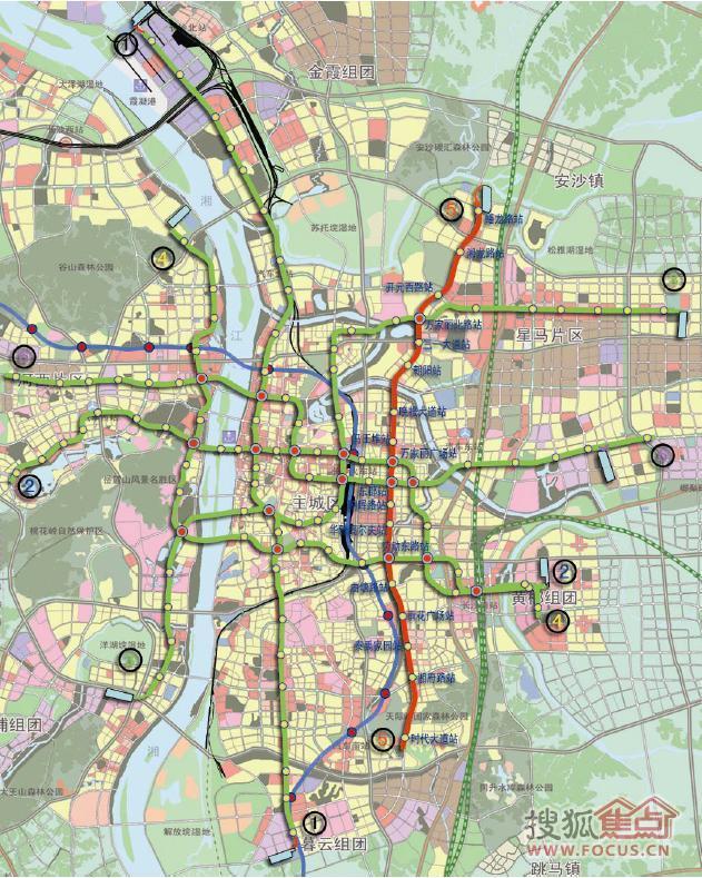 长沙地铁规划图2020 长沙地铁线规划图 长沙 地铁规划