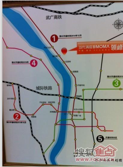 看到长沙的地铁规划图,咱万国城的业主乘地铁那是非常的方便滴