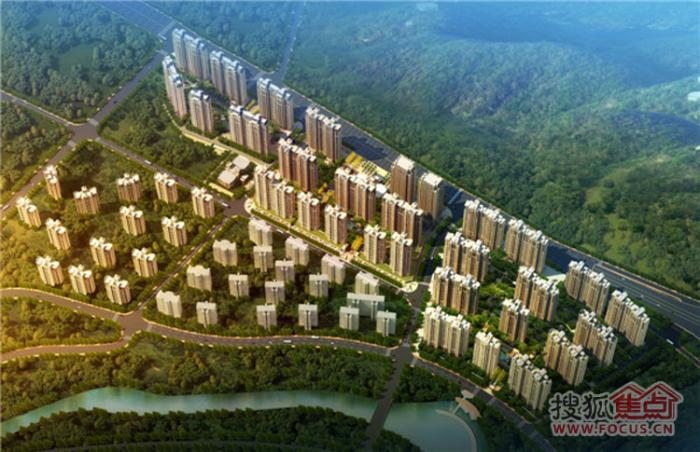 中海国际社区的高空俯视效果全图