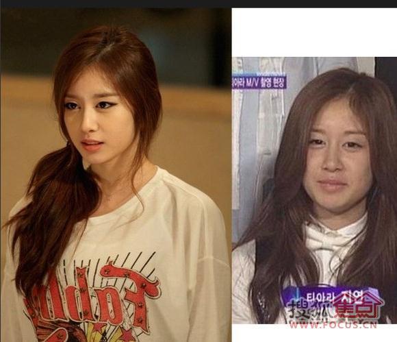 图:你懂的!韩国女星素颜对比照