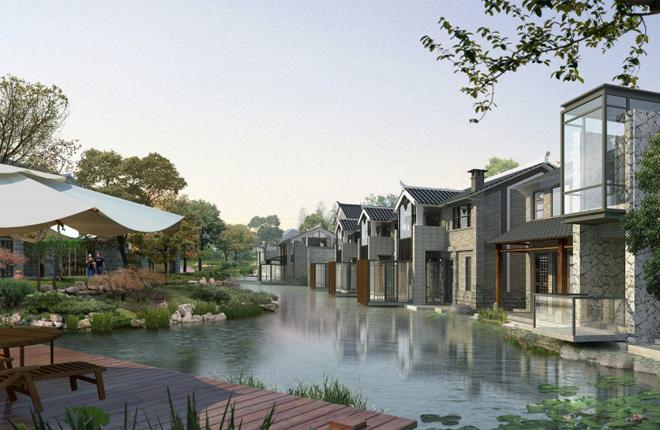 v别墅住洱海畔别墅坐拥湖光山色最中式小别墅漂亮图图片