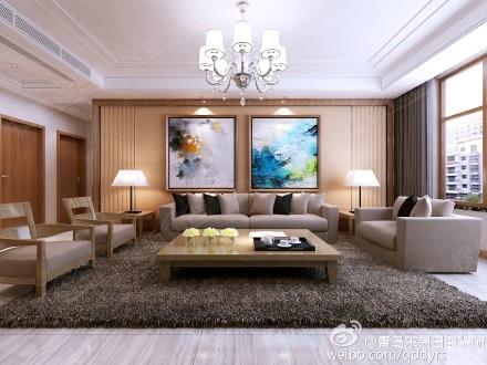 原木色的地板和沙发,配上浅咖色,低调沉稳,没有多余的颜色,有一种宁静