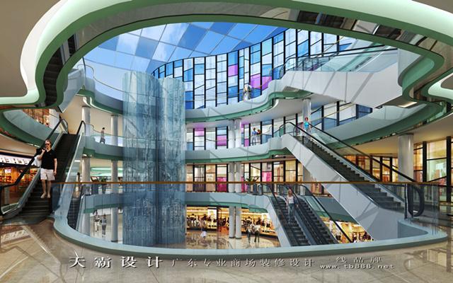 城市綜合體裝修效果圖中庭篇-天霸設計作品可供參考