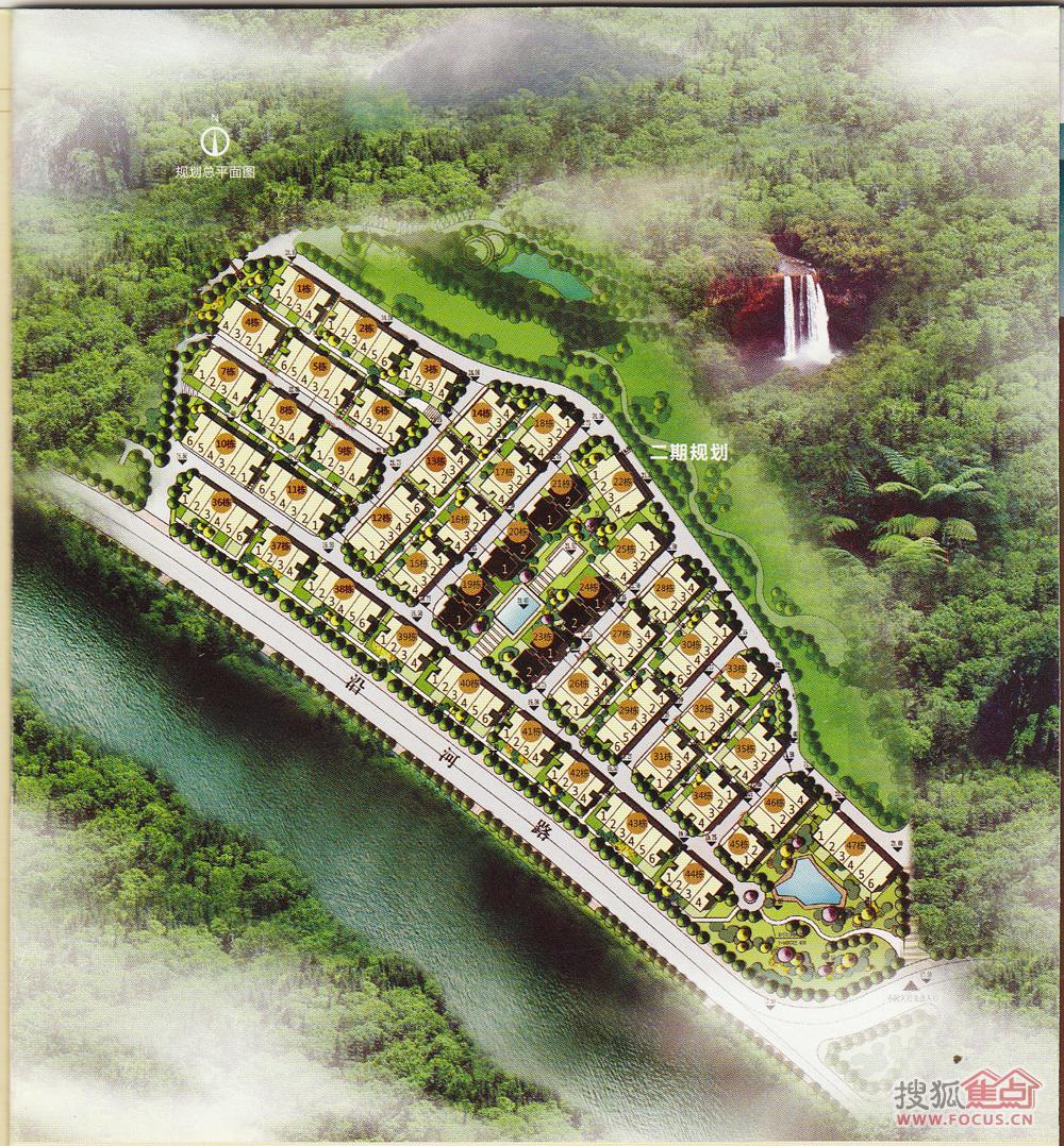 东莞新房 樟木头镇 丰泰橡树溪谷 规划平面图  查看原图