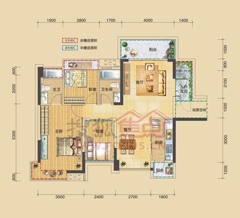 伟隆国际花园占地面积19981㎡,总建筑面积为76542㎡,由3栋17层小高层