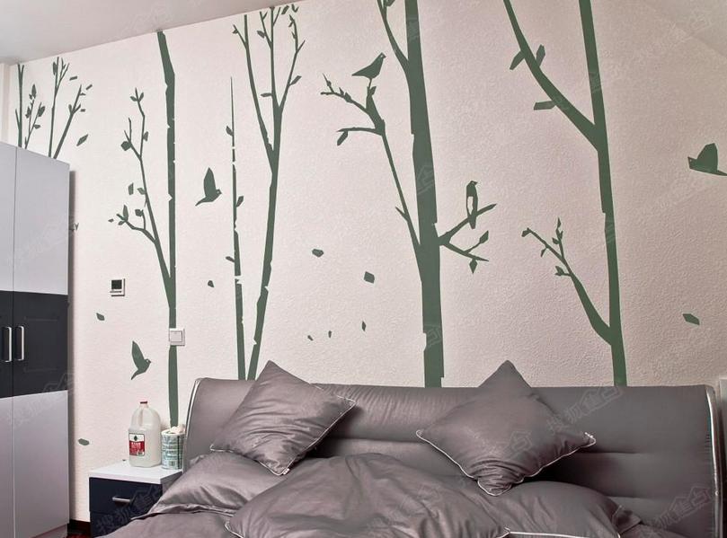 家居空间客厅硅藻泥沙发背景墙效果图鉴赏_过家家装修网