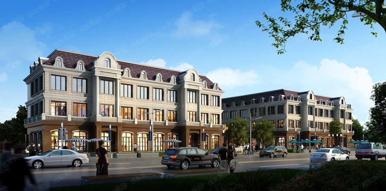 法蓝溪谷沿街商业 效果图高清图片