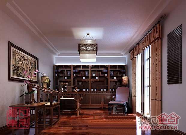 但中式风格的装修造价较高,且缺乏现代气息,只能在家居中点缀使用.图片