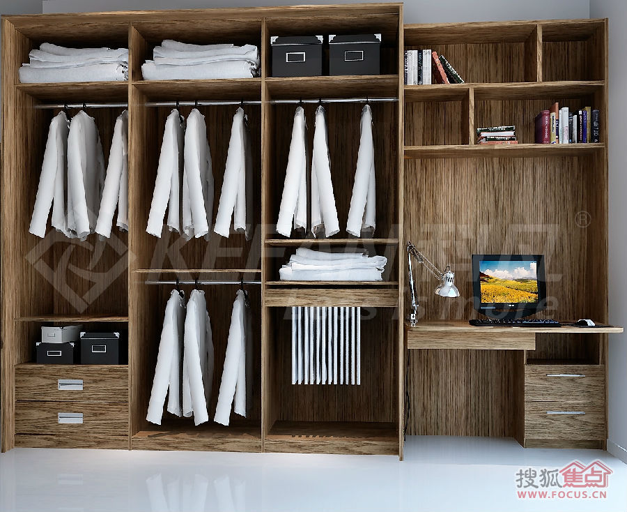 告诉你:木工现场打制衣柜与定制衣柜的区别