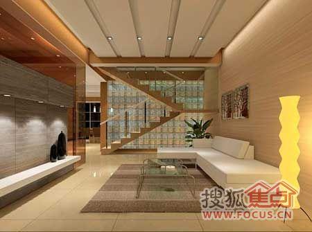 跃式客厅装修效果图 楼梯设计给客厅空间加分