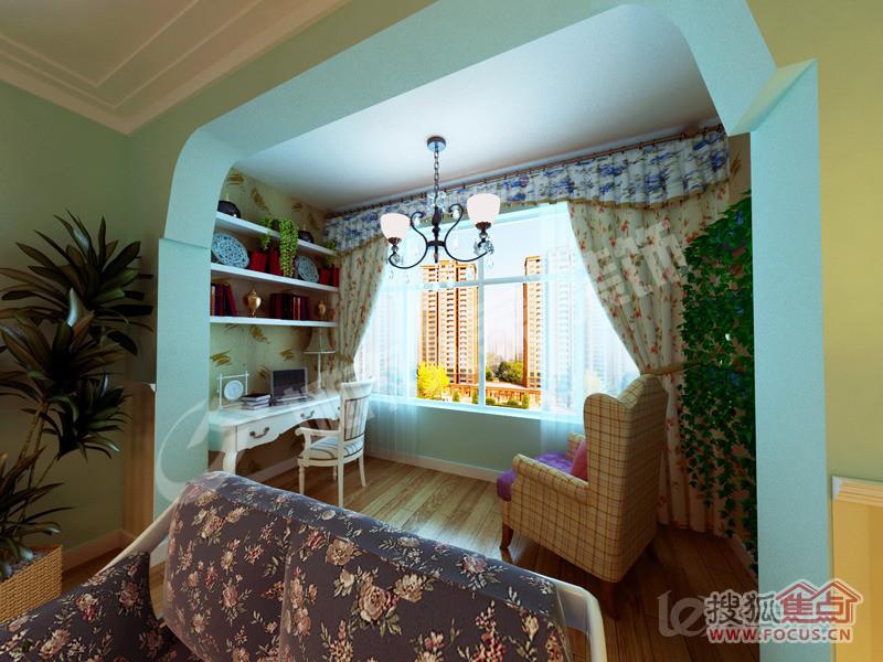 女儿房间装修效果图 60平米两室一厅装修效果图 高清图片