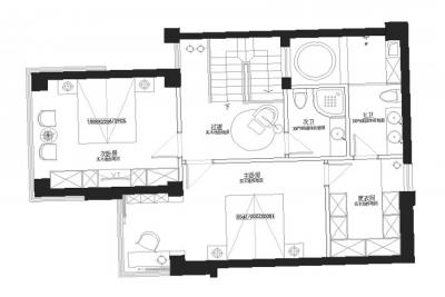 三百平方米的房子一楼的设计图展示图片
