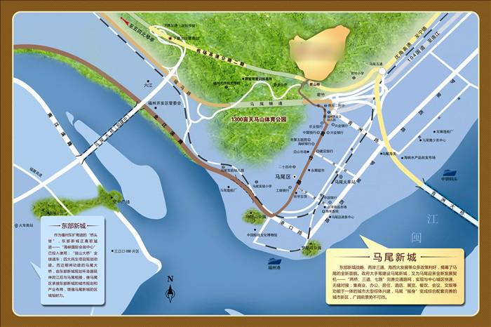 福州南台岛地图