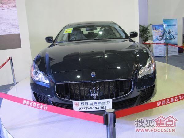 这应该是会展里最贵的车,160万, 玛莎拉蒂!传说中郭美美的座高清图片