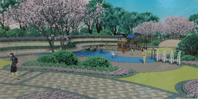 山青苑园林设计意向图   山青苑主入口效果图   山青苑园林意向图   山水