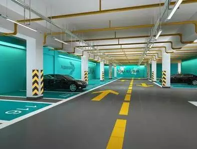 地下停车场实景图