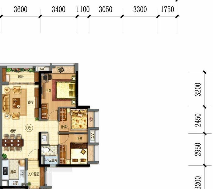 万科幸福誉三居室j15/j16栋05_万科幸福誉户型图-广州图片