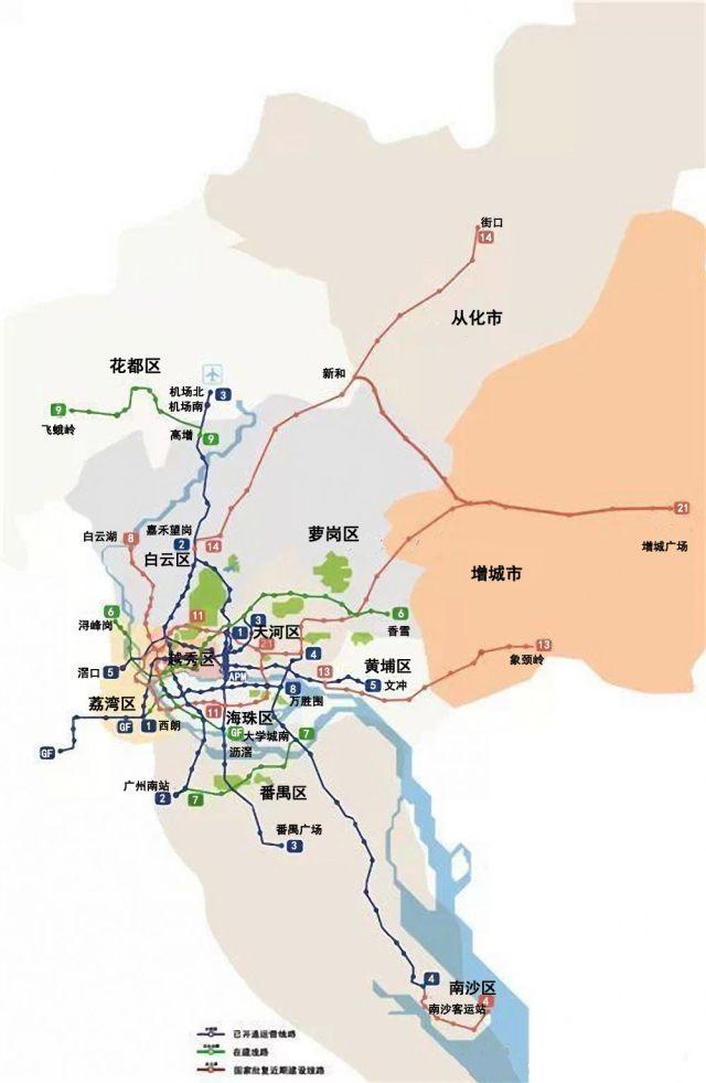 作的2018年广州地铁线路图】-不看就走宝了 广州2018版地铁图 图片