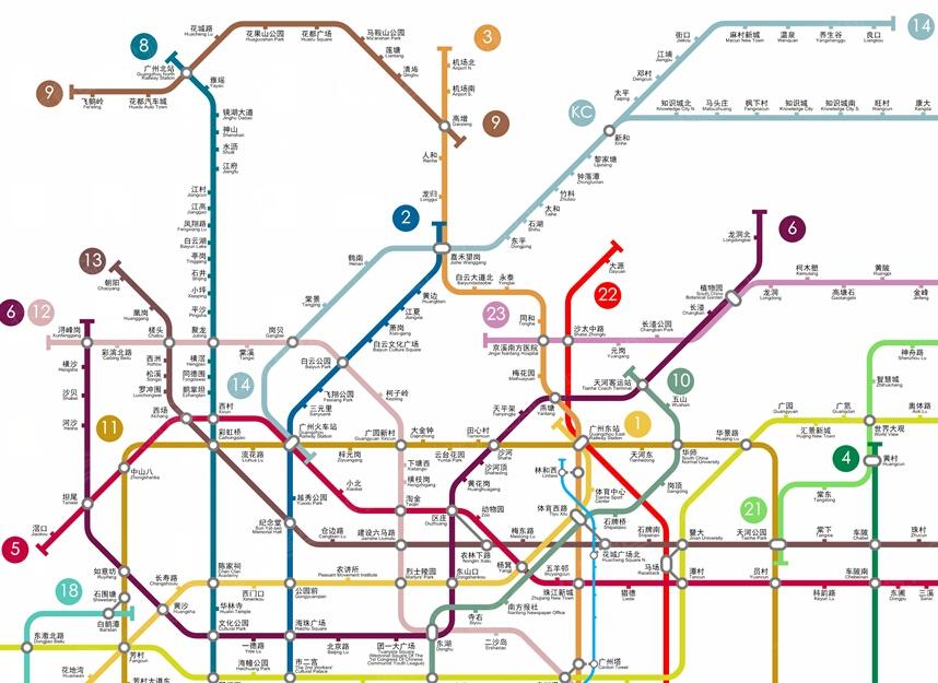 广州最新地铁线路图 广州2017地铁线路图 广州地铁图片