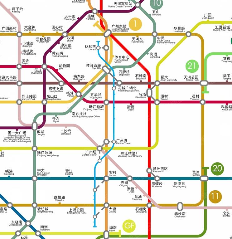 牛人分享 广州地铁最新远期规划线路图 大家感受下 网罗地铁盘 广州搜图片